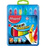 Maped Color'Peps Smoothy Gel Crayons, Assorted Colors, Pack of 6 (836111)