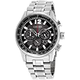 Citizen Nighthawk Black Dial Stainless Steel Men's Watch CA4370-52E