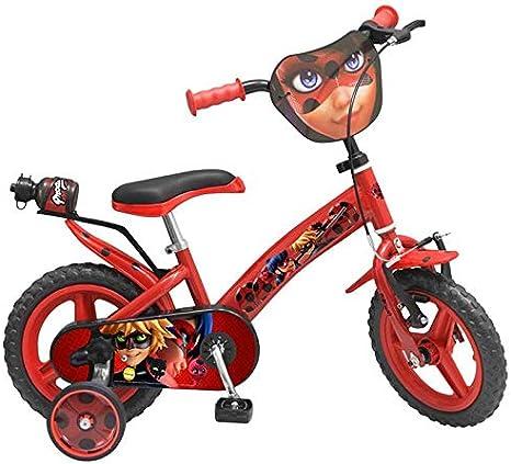 TOIMSA 1287 Ladybug Miraculous bicicleta niña 12 pulgadas: Amazon ...