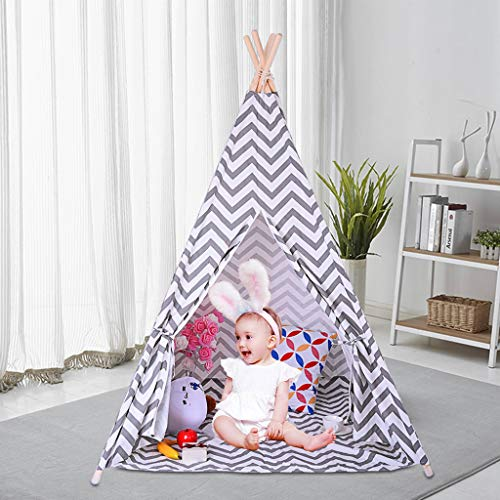 Toonshare Tents Teepee Tent for Kids, Play Tent for Boy Girl Indoor & Outdoor -Playhouse for Boys and Girls Children