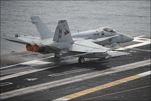 (24x36 Poster . Fa-18C Hornet F-18 Vfa-146 Blue Diamonds Uss Nimitz)