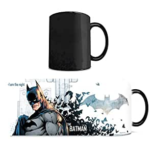 Morphing Mugs DC Comics Justice League (Batman) Ceramic Mug, Black