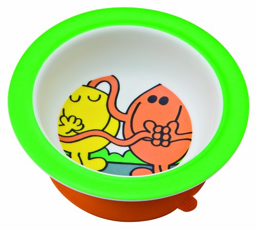 Mr. Men Melamine Bowl with Suction Pad by Monsieur Madame
