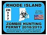 Rhode Island Zombie Hunting Permit(Bumper Sticker)