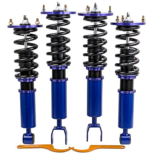 - Adjustable Height Coilovers Suspension for Toyota Supra 93-98 for Lexus SC300 SC400 1992-00 Performance Shocks Struts Coil Springs - Blue