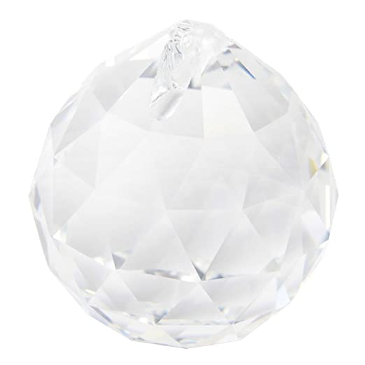 Amazon large crystal ball prism pendant suncatcher 40mm garden large crystal ball prism pendant suncatcher 40mm aloadofball Image collections