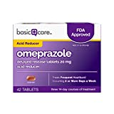#10: Basic Care Omeprazole Delayed Release Tablets 20 mg, Acid Reducer, 42 Count