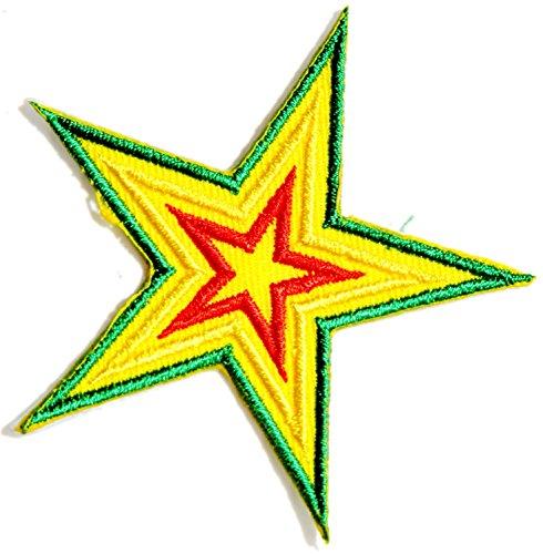 Star Rasta Rastafari Jamaica Raggae Africa Army Logo Biker Jacket T shirt Patch Sew Iron on Embroidered Badge (Yamaha Die Cut Decals)