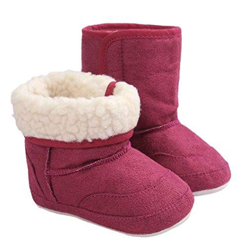 Schuhe Kinder Winter- Omiky® Mädchen Kinder Unisex-Baby Winter Baby Kind Art Baumwoll Stiefel Warme Weiche Schnee Aufladungen mit Baumwolle Lila