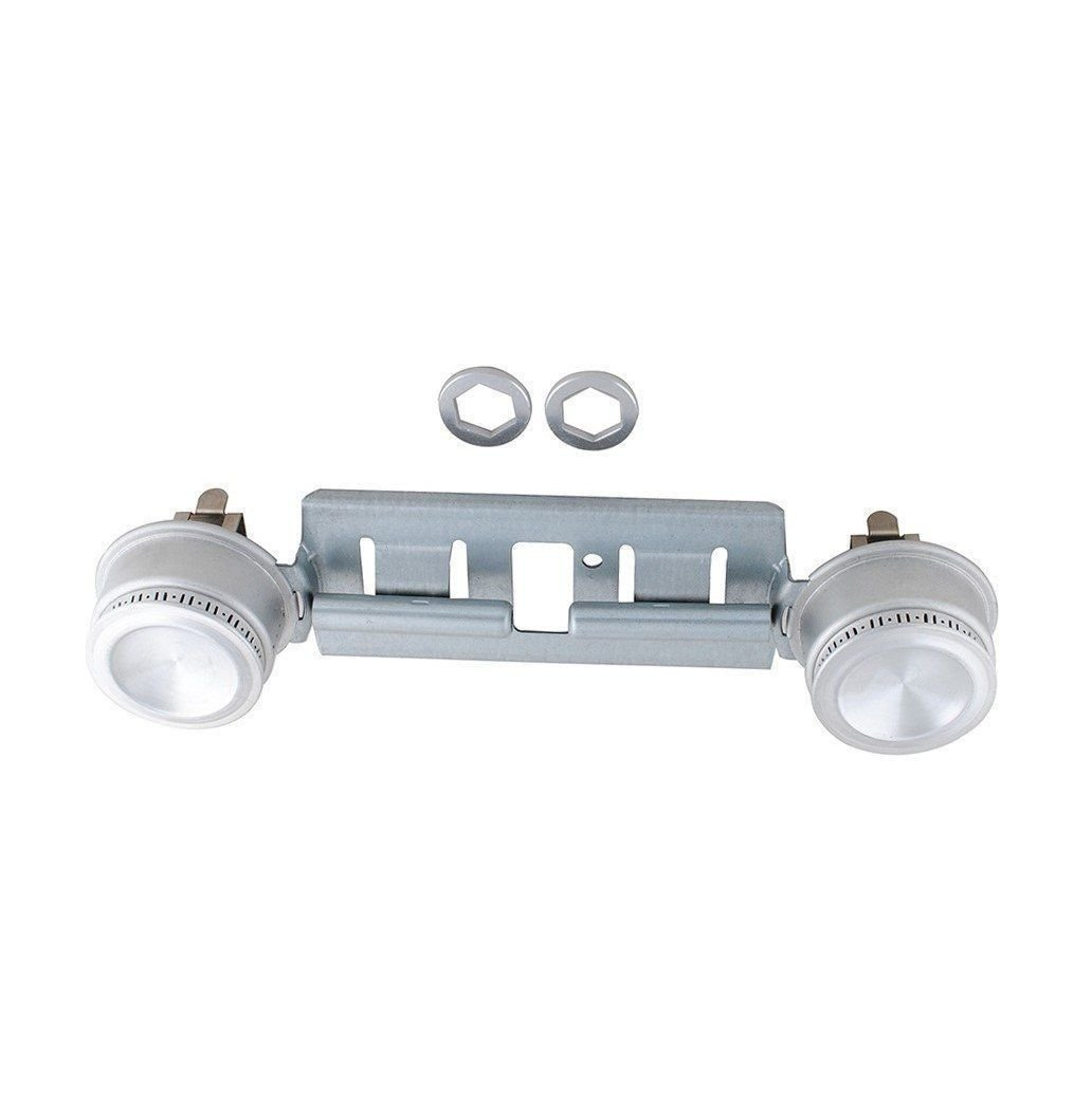 Ximoon WB16K10026 WB29K17 Gas Stove Top Double Burner Replacement for GE Hotpoint Gas Stove Range Assembly AP2633210 PS232404