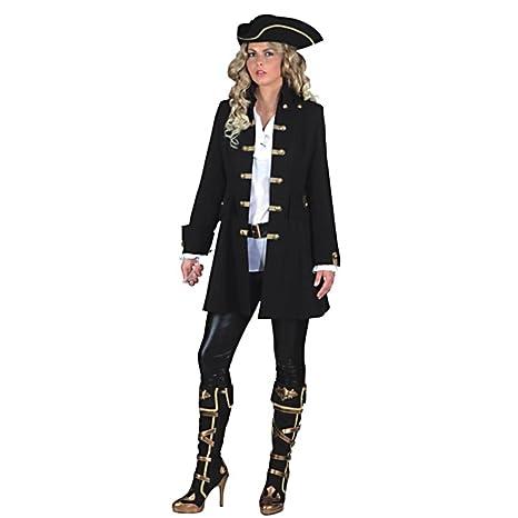 6fdb65247 Las mujeres pirata Escudo de Luxe Ta. 52 Abrigo de la mujer traje negro Lake