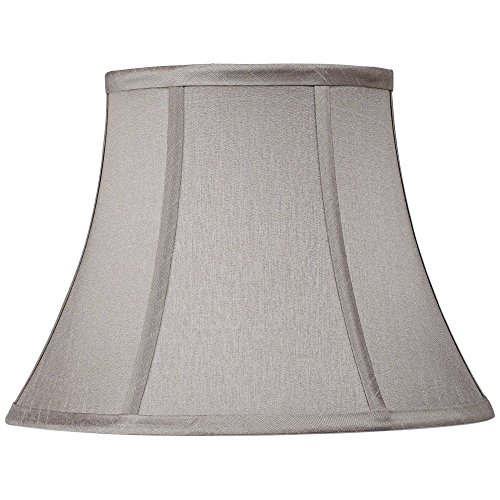 Pewter Gray Bell Lamp Shade 7x12x9 (Spider) - Springcrest (Tie Dye Lamp Shade)