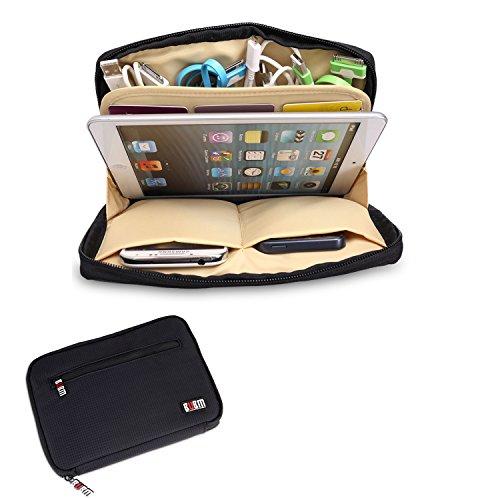 BUBM Portable Universal Electronics Accessories Travel Organizer /Ipad Mini Case / Cable Organizer Bag/ Makeup Bag (Black)