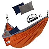 Need a quality-built hammock for two people?Get the UNLIMTED CAMP 2 PERSON HAMMOCK!Camp with convenience. Hang our hammocks on any tree.What makes the UNLIMITED CAMP 2 PERSON HAMMOCK special? 2 PEOPLE – Holds up to 441 pounds & is 9.4 ft. long...