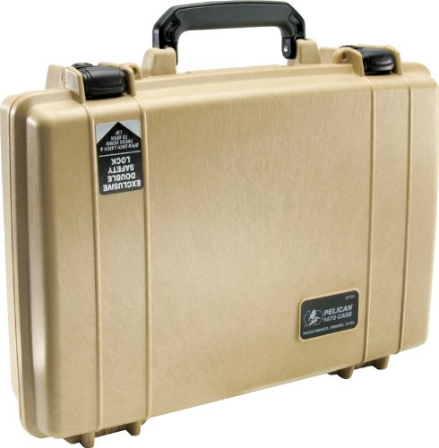 Pelican 1470 Laptop Case With Foam (Desert Tan)