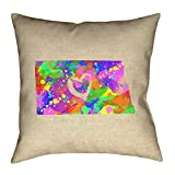 ArtVerse Katelyn Smith North Dakota Love Watercolor Pillow