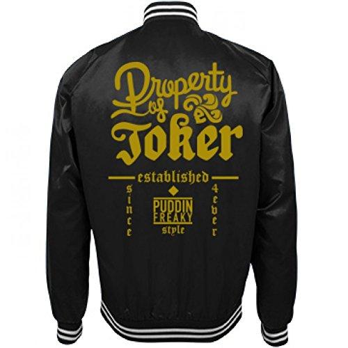 Were A Culture Not A Costumes (Property of Joker Harley Jacket: Unisex Nylon Bomber Baseball Jacket)