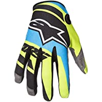 Alpinestars Smatic Boys Street Motorcycle Gloves - Black/Blue/Yellow / Small