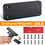 KEZAY Gun Magnet Mount, 48 Lbs Rated Magnetic Handgun Holder Concealed Pistol Holster Hiding Rifle, Shotgun, Pistol, Revolver Within Reach for Truck, Car, Home.