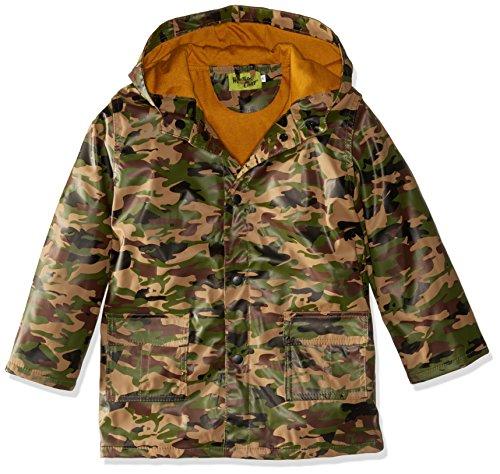Western Chief Kids Soft Lined Character Rain Jackets, Camo, (Camo Coat)