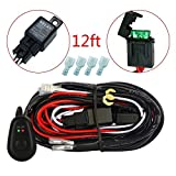 Simplive® LED Light Bar Wiring Harness Off Road Power Relay 30 Amp Fuse ON-OFF Switch