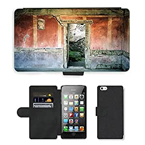 Hot Style Cell Phone Card Slot PU Leather Wallet Case // M00170563 Pompei Ruins Italy Architecture // Apple iPhone 5 5S 5G