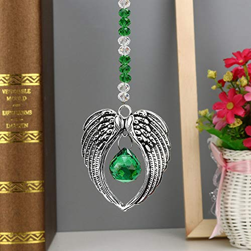 Gotian 1PC Bohemian Wing Clear Crystal Ball Prisms Pendant Hanging Wedding Decor Gift ~ a Window Hanging Decor, Party Decorative Element, Table Decor Center Piece ~ ()