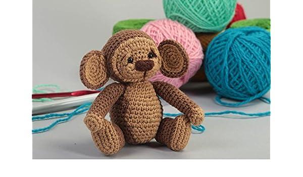 Juguete artesanal tejido peluche para ninos regalo original con forma de monita: Amazon.es: Juguetes y juegos