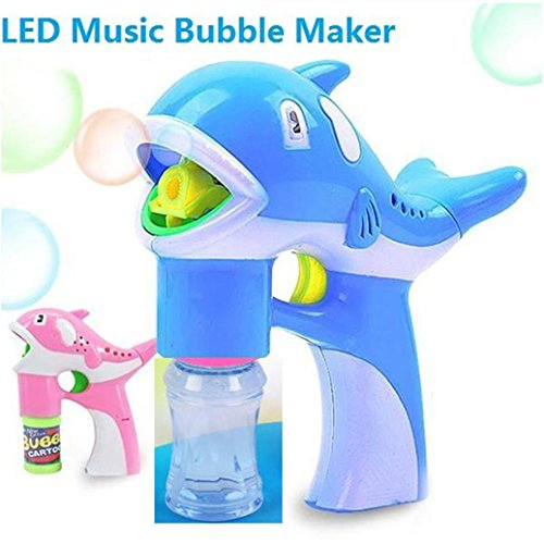 - Inverlee Bubble Gun Blower Machine Dolphin Creativity Bubble Blower Built in Music Great Fun Play for Children (Color Random)