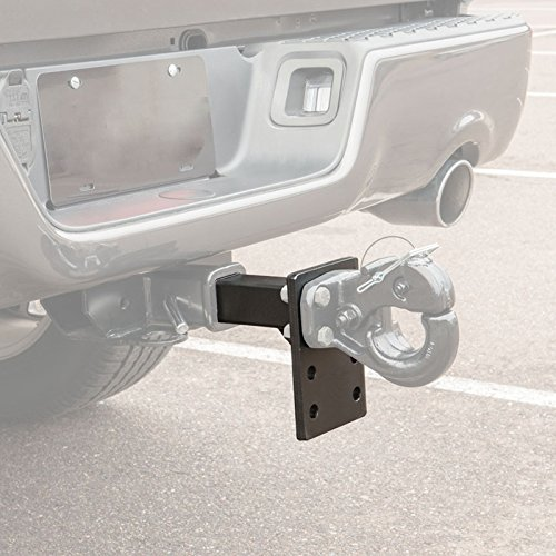 Prime Steel 18161 Black Pintle Mount Receiver 2-Inch 8-1//2-Inches Length 7-Inch Plate 3 Set of Holes - Black