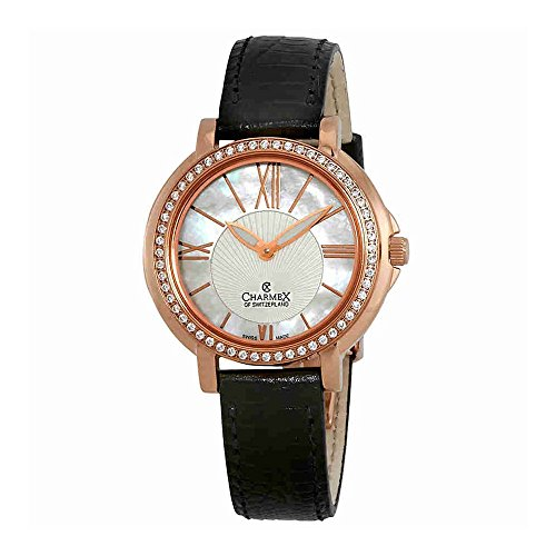 Charmex Malibu Crystal Mother of Pearl Dial Ladies Watch 6416