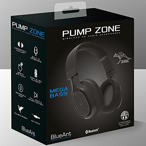 blueant pump zone black hd headphones how to turn off