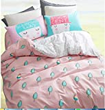 ice cream crib sheet - TheFit Paisley Textile Bedding for Adult U1115 Pink Ice Cream Duvet Cover Set 100% Cotton, Twin Queen King Set, 3-4 Pieces (Twin)