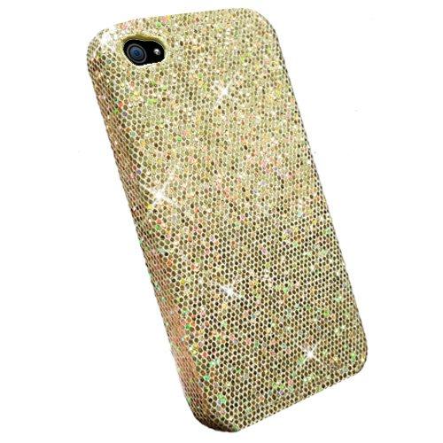 Xtra-Funky Serie iPhone 6 Plus (5.5) brillantes caso del brillo Arco Iris chispeante de lentejuelas del brillo - Rosa Oro