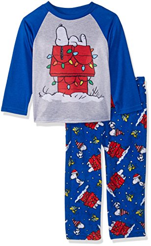 Peanuts Kids' Little Snoopy Holiday Lights Family Sleepwear Collection, Winter, 6 ()