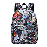 QJH 16 inch Hip hop SKULL Oxford backpack printing high school student college bag