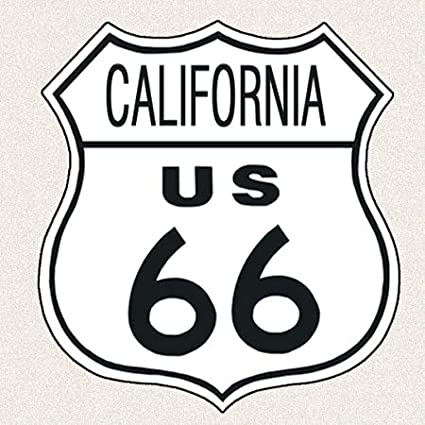CLAREMONT CALIFORNIA Route 66 Shield Metal Sign Man Cave Garage 211110014054