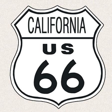 (Desperate Enterprises US Route 66 California Tin Sign, 11