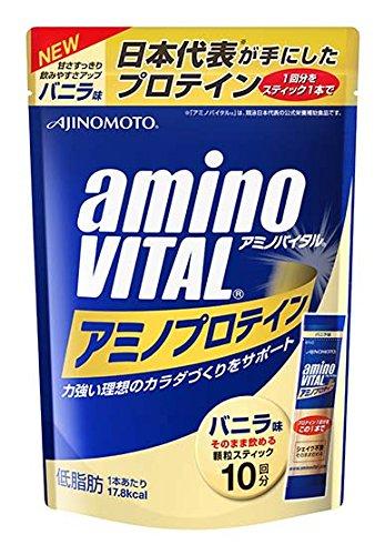 味の素 アミノバイタル アミノプロテイン バニラ味 パウチ 10本×20箱入 B07B2R9YYQ