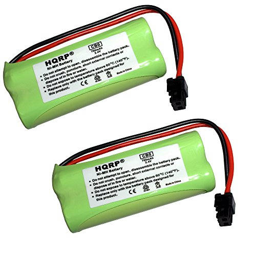 HQRP 2-Pack Cordless Phone Battery for DECT 2080-2W / DECT 2180 / DECT 2180-2 / DECT 2180-3 / DECT 2180-4 / DECT 2185 / DECT 2185-2 / DECT 2188 / DECT 2188-3 / DECT 3080-2 Replacement + HQRP (2w Dect Cordless Phone)
