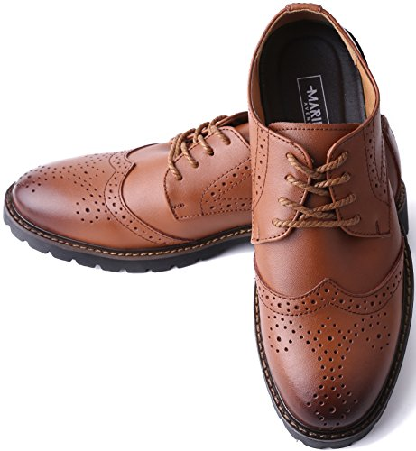 Tan Dress Shoes Shoes Leather Men for Mens Wingtip Marino a Formal Oxford 6xOngwqWz4