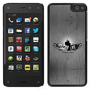 // PHONE CASE GIFT // Duro Estuche protector PC Cáscara Plástico Carcasa Funda Hard Protective Case for Amazon Fire Phone / Funny Apple Life /