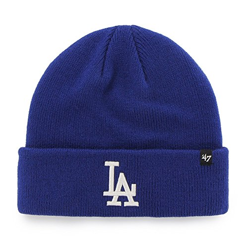 MLB Los Angeles Dodgers 47 Raised Cuff Knit Beanie, One Size, Royal