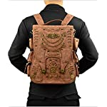 Jackdaine Men's Ladies Fashion Steampunk Outdoor Travel Backpack Backpack 6