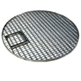 Direct Global Trading 54cm Round Galvanised Water Feature Grid with Access Hatch