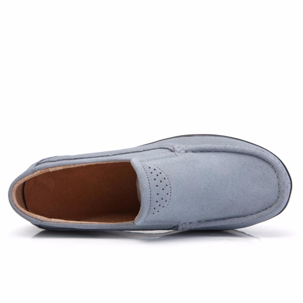 c8e573bd744 Moonwalker Mocasines Confort Mujer Plataforma Gamuza Perforaciones   Amazon.es  Zapatos y complementos