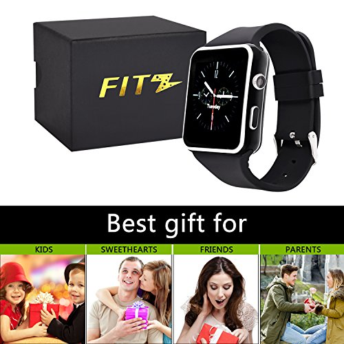 Curved Touch Screen Bluetooth Smart Watch with Camera, Fitness Tracker for Android and IOS