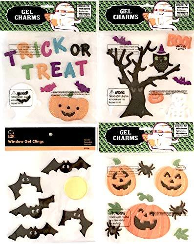 Trick or Treat Spooky Frankenstein Pumpkins Assorted Halloween Gel Clings for $<!--$12.99-->