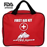 Top First Aid Kit For Home Car Sports Survival and Emergencies Includes 72 Must Have Items Needed For Injuries, Large Bandages, Tourniquet & CPR Instructions Not Just For Small Boo Boos