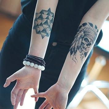 yeeech temporal Tattoo Sticker calavera Tribel serie antiguo ...